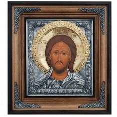 Icoane argintate, Icoana Mantuitorul Iisus Hristos, dim 42cm x 47cm, cod A-01