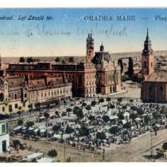 AD 878 C. P. VECHE -ORADEA MARE - PIATA UNIRII - CIRCULATA 1929 -VAIDA ELISABETA