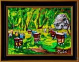 Cumpara ieftin Apicultori in Baragan - Pictura de ulei