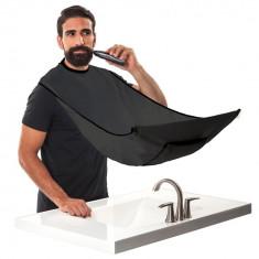 Pelerina manta pentru tuns barba cu prindere de oglinda neagra frizer
