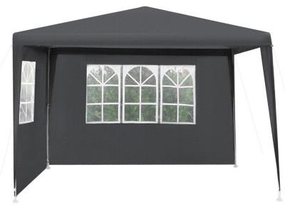Cort pavilion pentru gradina, curte sau evenimente 3x3m, culoare Negru foto