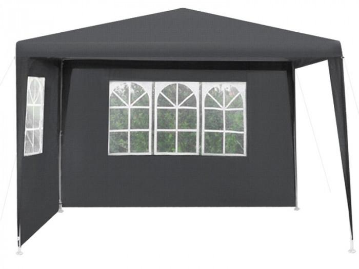 Cort pavilion pentru gradina, curte sau evenimente 3x3m, culoare Negru