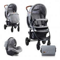 Carucior Set, Daisy, cos auto inclus, Dark Grey Lighthouse