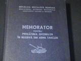 MEMORATOR PENTRU PREGATIREA OFITERILOR DIN REZERVA DIN ARMA TANCURI-M.A.P.N.