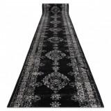 Traversa Vintage 22206996 Rozetă negru și cremă, 80 cm
