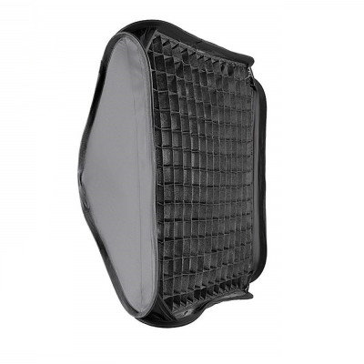 Softbox 40x40cm cu grid honeycomb montura Bowens foto
