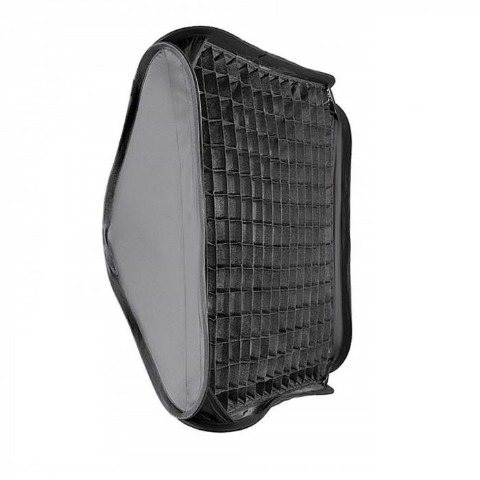 Softbox 40x40cm cu grid honeycomb montura Bowens