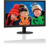 Monitor LED Philips 23.6, Wide, Full HD, HDMI, DVI, Boxe, Negru, 243V5LHAB