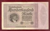 Bancnota Germania  -  REICHSBANKNOTE   - 100.000 MARK  1923