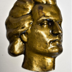 Mihai Eminescu - placheta turnata in bronz