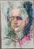 Portret// creioane colorate pe hartie, nesemnata, lotul Misosniky, Portrete, Acuarela, Realism