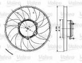 Ventilator, radiator MERCEDES SPRINTER 3,5-t platou / sasiu (906) (2006 - 2016) VALEO 696083