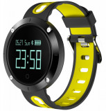 Cumpara ieftin Bratara Fitness iUni DM58 Plus, Waterproof, Display OLED, Ceas, Pedometru, Monitorizare puls, Notificari, Galben