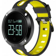Bratara Fitness iUni DM58 Plus, Waterproof, Display OLED, Ceas, Pedometru, Monitorizare puls, Notificari, Galben