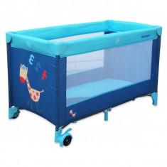 Patut pliabil pentru baieti Baby Mix HR-8052-138AL, Albastru