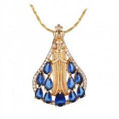 Lantisor pandantiv Divine Blue Sapphire