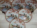 SET / SERVICIU 6 FARFURII MIC DEJUN DIN PORTELAN JAPONEZ