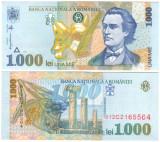 SV * Romania  1000  LEI  1998 / 2000  * M. Eminescu * FILIGRAN MARE BNR      UNC