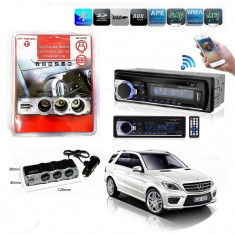 Radio Cd Auto Mp3+Adaptor Triplu Bricheta 3 Iesiri Si Port Usb - 91