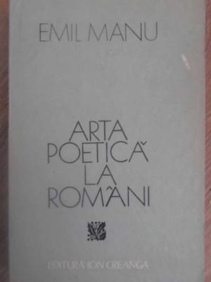 ARTA POETICA LA ROMANI - EMIL MANU foto