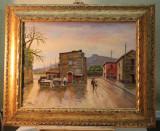Tablou Scoala Italiana Cu Acte Certificat, Peisaje, Ulei, Impresionism