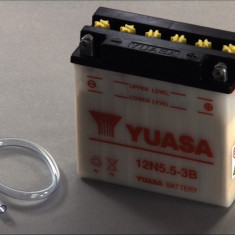 Yuasa baterie scuter maxiscuter moto 12N5,5-3B 138x61x131 12V 5.5Ah 60A Aprilia Yamaha