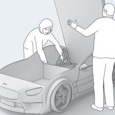 Pat masina tineret NEO Mercedes Negru