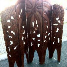 Superb paravan in stil Rococo de dimensiuni impresionante din lemn de mahon