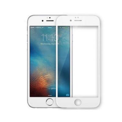 Folie de sticla Apple iPhone 6/6S, Elegance Luxury margini colorate White foto