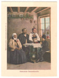 SV * Sibiu * FAMILIE DE GOSPODARI SASI * format 90 x 121 mm, Saliste, Circulata, Necirculata, Fotografie, Printata