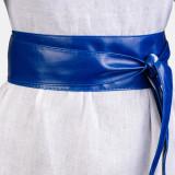 Curea lata petrecuta albastru din piele ecologica