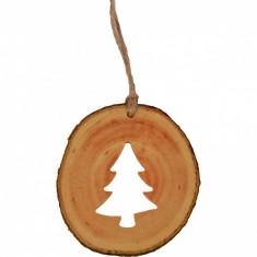 Decoratiune de craciun New Way Decor - Brad din felie de lemn