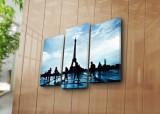 Tablou decorativ pe panza Horizon, 3 Piese, 237HRZ1295, Multicolor