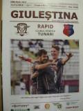 Program de meci Rapid Bucuresti-CS Tunari (11 noiembrie 2018)