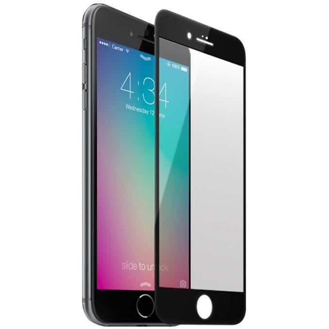 Folie de sticla Apple iPhone 6/6S, Elegance Luxury margini colorate Black