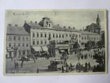 Carte postala Cernăuți/Czernowitz-Bucovina,Piata Unirei/magazine,circulata 1932