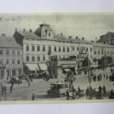 Carte postala Cernăuți/Czernowitz-Bucovina,Piata Unirei/magazine,circulata 1932, Cernauti, Printata