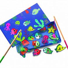 Joc magnetic de pescuit pești colorați, Djeco