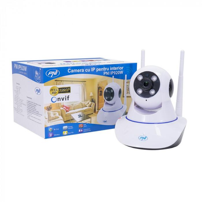 Resigilat : Camera supraveghere video PNI IP920W 1080P cu IP P2P PTZ wireless, slo