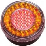 Lampa stop auto rotunda LED cu functii de Semnalizare-Ceata