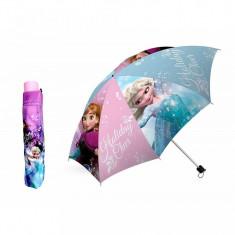 Umbrela pliabila manuala Anna si Elsa Frozen 100 cm