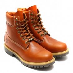 Bocanci TIMBERLAND 6 inch premium originali piele waterproof 42/43/43,5/44,5, 43.5, 44.5, Coniac, Piele naturala