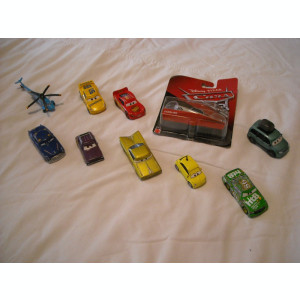 Disney Pixar Cars - Hasbro - 10 figurine masinute de metal - lot 1