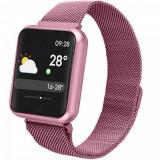 Cumpara ieftin Ceas Smart TarTek M68 Pink, senzor puls, tensiune arteriala