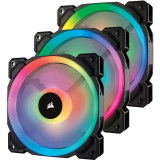 Ventilator/Radiator Corsair LL120 RGB LED Static Pressure 120mm Three Fan Pack