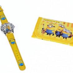 Set ceas pentru copii cu Minioni + portofel cadou - COCO6632