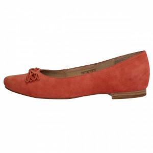 Balerini dama, din piele naturala, marca Caprice, B9-22101-20-11, orange , marime: 38