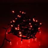 Ghirlanda luminoasa decorativa 180 LED-uri rosii cu jocuri de lumini cablu verde WELL
