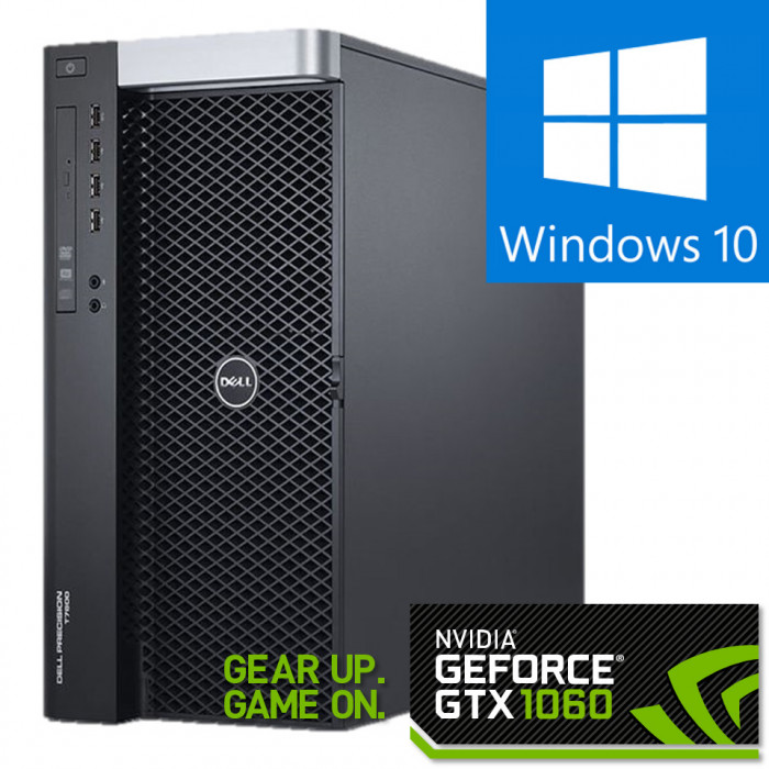 DELL Precision T7600 Workstation, 2 x Intel HEXA Core Xeon E5-2265 2.40 GHz, 32GB DDR3 ECC, 240GB SSD + 1TB HDD, GeForce GTX 1060