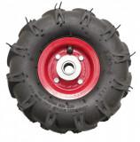 """Roata roaba - TT - ax 20mm - rulment - crampoane - 3.50-4 4PR"